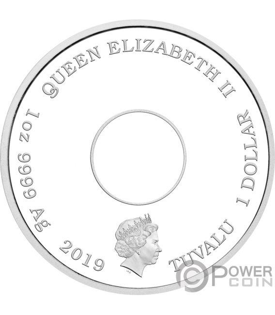 DONUT Rosquilla Simpsons 1 Oz Moneda Plata 1$ Tuvalu 2019