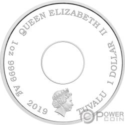DONUT Simpsons 1 Oz Серебро Монета 1$ Тувалу 2019