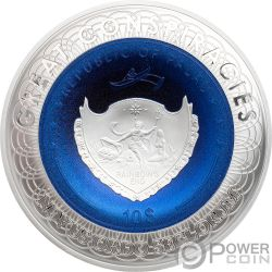 FLAT EARTH Flache Erde Great Conspiracies 2 Oz Silber Münze 10$ Palau 2019