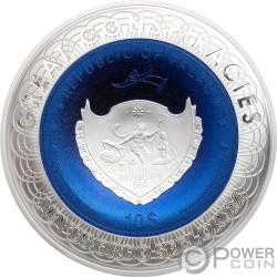 FLAT EARTH Great Conspiracies 2 Oz Серебро Монета 10$ Палау 2019