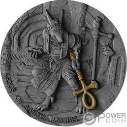 ANUBIS Anubi Gods of Anger 2 Oz Moneta Argento 5$ Niue 2019