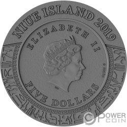 ANUBIS Gods of Anger 2 Oz Silber Münze 5$ Niue 2019