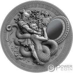 PERSEUS Perseo Silicona Demigods 2 Oz Moneda Plata 2$ Niue 2018