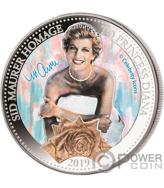PRINCESS DIANA Principessa Galles Royal Family 1Oz Moneta Argento 5$ Samoa 2019