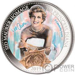 PRINCESS DIANA Royal Family Sid Maurer 1 Oz Silver Coin 5$ Samoa 2019