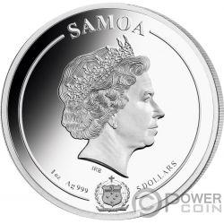 PRINCESS DIANA Royal Family Sid Maurer 1 Oz Silber Münze 5$ Samoa 2019