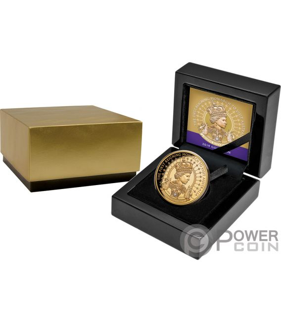 QUEEN ELIZABETH II Diamond 1 Oz Gold Coin 100$ Niue 2019