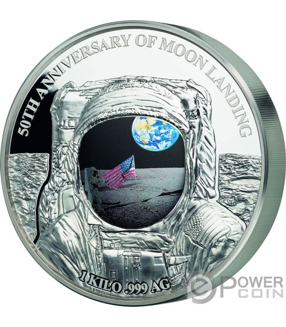 Moon Landing Apollo 50th Anniversary 1 Kg Kilo Silver Coin