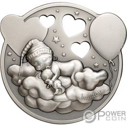 LITTLE PRINCESS Pequeña Princesa Nina que Suena 1 Oz Moneda Plata 5$ Cook Islands 2019