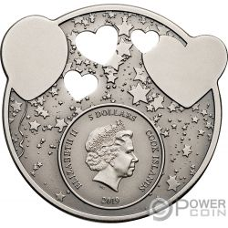 LITTLE PRINCESS Dreaming Girl 1 Oz Silver Coin 5$ Cook Islands 2019