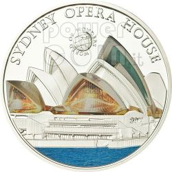 OPERA HOUSE Sydney World Of Wonders 5$ Silver Coin Palau 2011