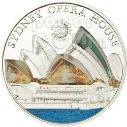 OPERA HOUSE Sydney World Of Wonders Moneta Argento 5$ Palau 2011