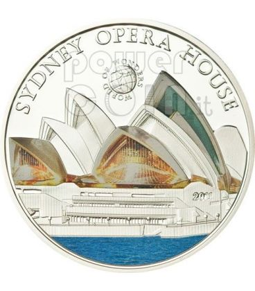 OPERA HOUSE Sydney World Of Wonders Moneta Argento 5$ Palau 2011