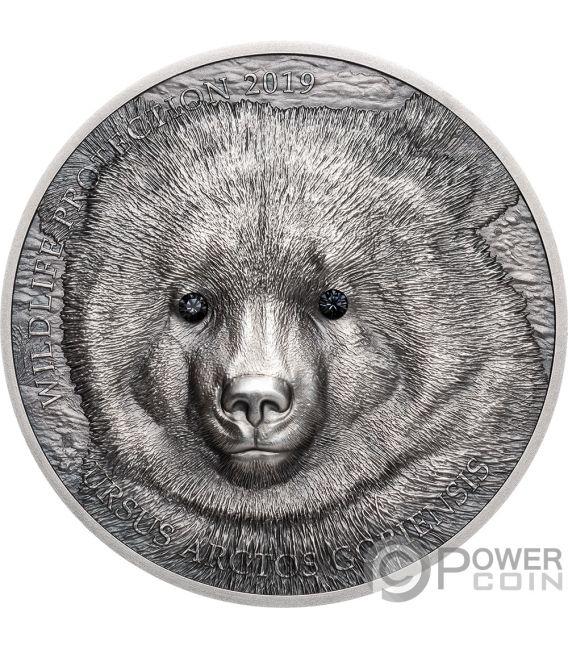 MONGOLIAN GOBI BEAR Orso Wildlife Protection 1 Oz Moneta Argento 500 Togrog Mongolia 2019