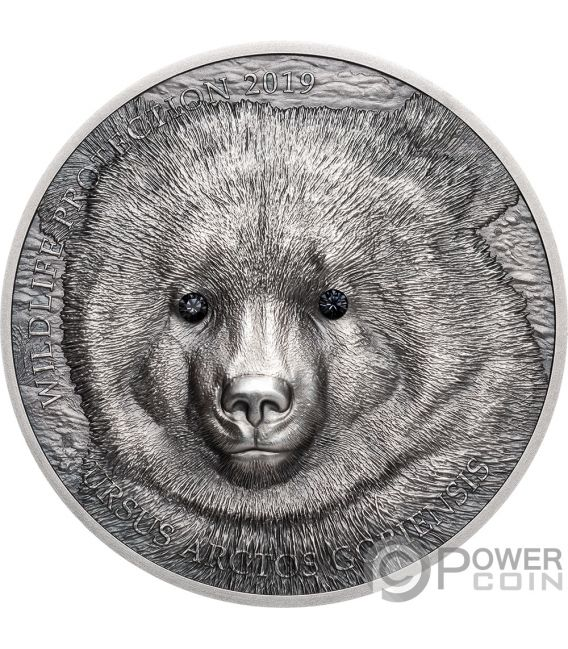 MONGOLIAN GOBI BEAR Oso Wildlife Protection 1 Oz Moneda Plata 500 Togrog Mongolia 2019