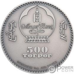 MONGOLIAN GOBI BEAR Медведь Wildlife Protection 1 Oz Монета Серебро 500 Тугрик Монголия 2019