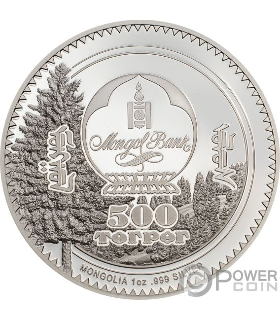 RABBIT Woodland Spirit 1 Oz Silver Coin 500 Togrog Mongolia 2019