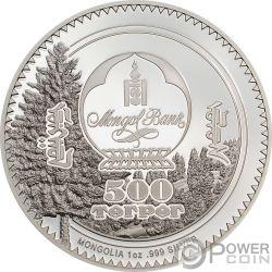 RABBIT Coniglio Woodland Spirit 1 Oz Монета Серебро 500 Тугрик Монголия 2019