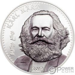 KARL MARX 1 Oz Монета Серебро 1000 Тугрик Монголия 2019