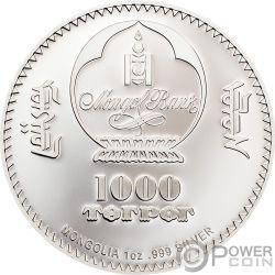 KARL MARX 1 Oz Moneda Plata 1000 Togrog Mongolia 2019