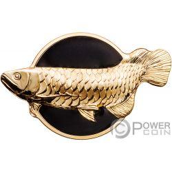 DRAGONFISH Рыба Дракон Golden Arowana 2 Oz Монета Серебро 10$ Палау 2019