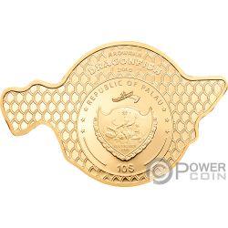 DRAGONFISH Golden Arowana 2 Oz Серебро Монета 10$ Палау 2019