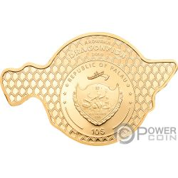 DRAGONFISH Pesce Drago Golden Arowana 2 Oz Moneta Argento 10$ Palau 2019