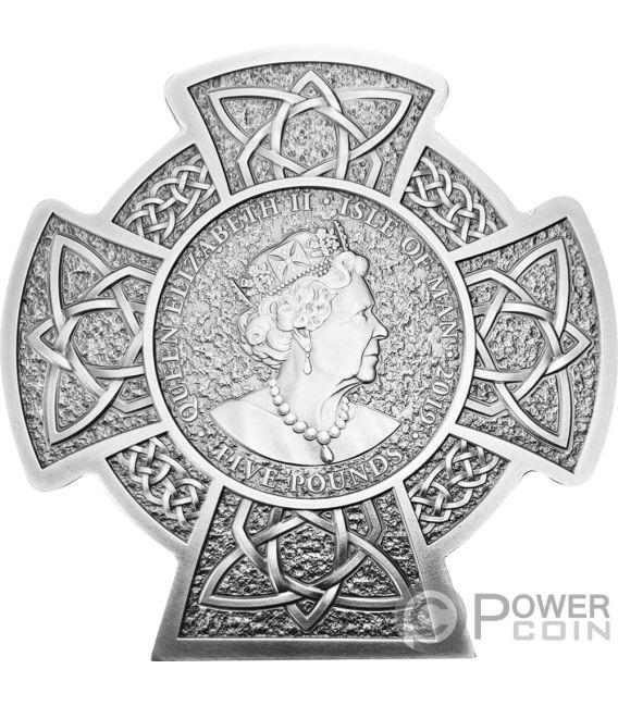 MANANNAN Первый Кароль Мэн 3 Oz Монета Серебро 5£ Остров Мэн 2019