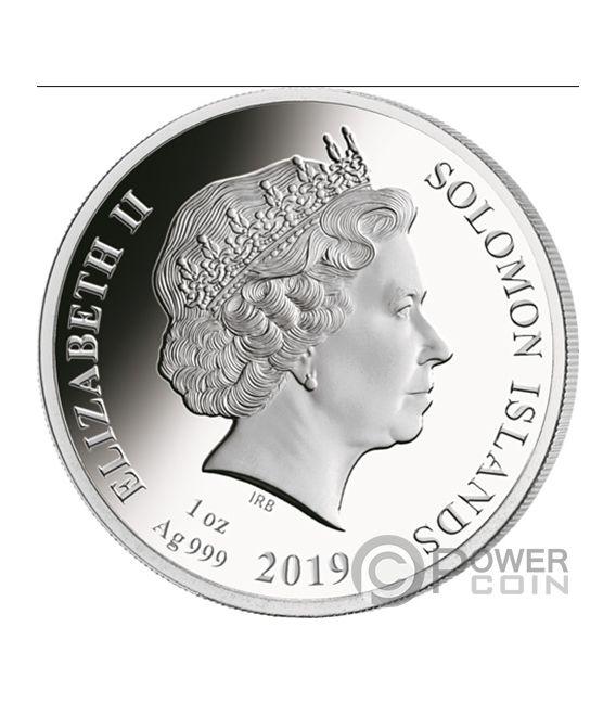 LEONARDO DA VINCI 500th Anniversary 1 Oz Silver Coin 5$ Solomon Islands 2019