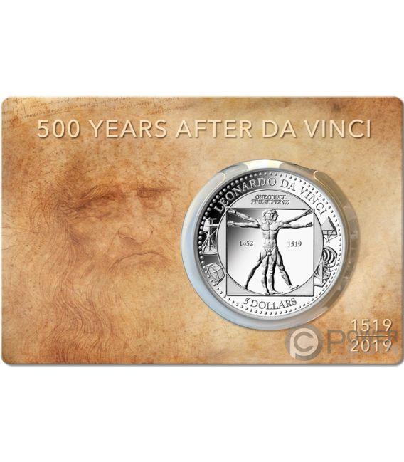 Leonardo Da Vinci 500th Anniversary 1 Oz Silver Coin 5