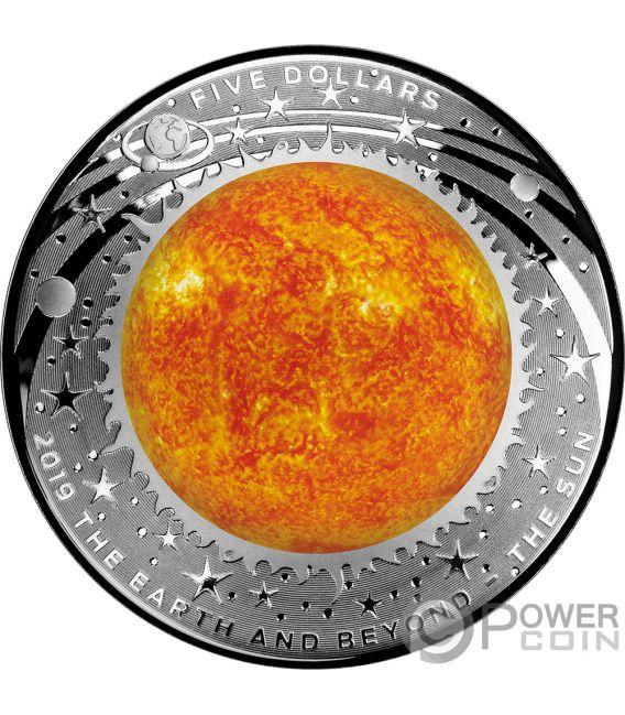 SUN Sol Mundo Beyond 1 Oz Moneda Plata 5$ Australia 2019