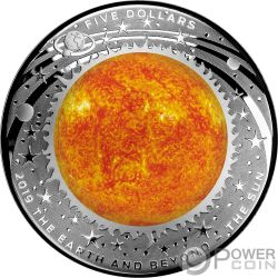 SUN Sole Mondo Beyond 1 Oz Монета Серебро 5$ Австралия 2019