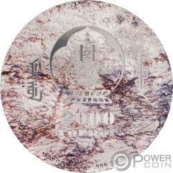PROTOCERATOPS Prehistoric Beasts 3 Oz Монета Серебро 2000 Тугрик Монголия 2019