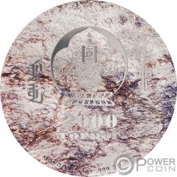 PROTOCERATOPS Prehistoric Beasts 3 Oz Серебро Монета 2000 Тугриков Монголия 2019