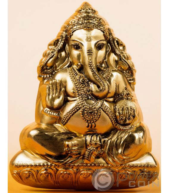 LORD GANESHA Forma 3 Oz Moneta Argento 20$ Cook Islands 2019