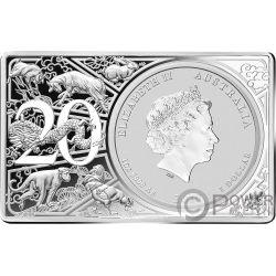 LUNAR SERIES Свинья 20 Годовщина 1 Oz Монета Серебро 2 Oz Набор 1$ Австралия 2019