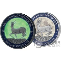 MOON LANDING 50 Годовщина Krugerrand 1 Oz Монета Серебро 1000 Франки Габон 2019
