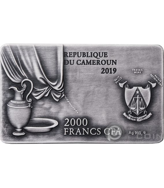 LAST SUPPER Leonardo 2 Oz Silver Coin 2000 Francs Cameroon 2019