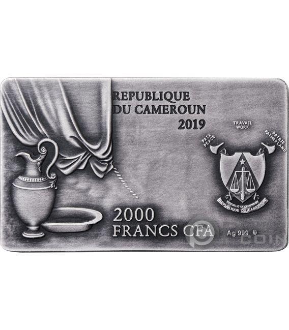 LAST SUPPER Ultima Cena Leonardo 2 Oz Moneda Plata 2000 Francos Cameroon 2019
