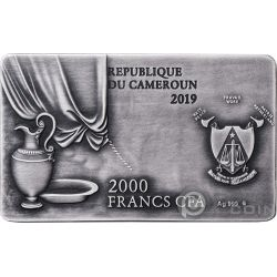 LAST SUPPER Abendmahl Leonardo 2 Oz Silber Münze 2000 Franken Cameroon 2019