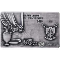 LAST SUPPER Leonardo 2 Oz Серебро Монета 2000 Франков Камерун 2019