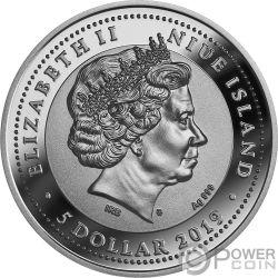 VENETIAN MASK Carnival 2 Oz Серебро Монета 5$ Ниуэ 2019