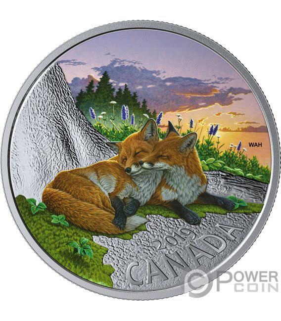 FOX Fuchs Fauna 1 Oz Silber Münze 20$ Canada 2019
