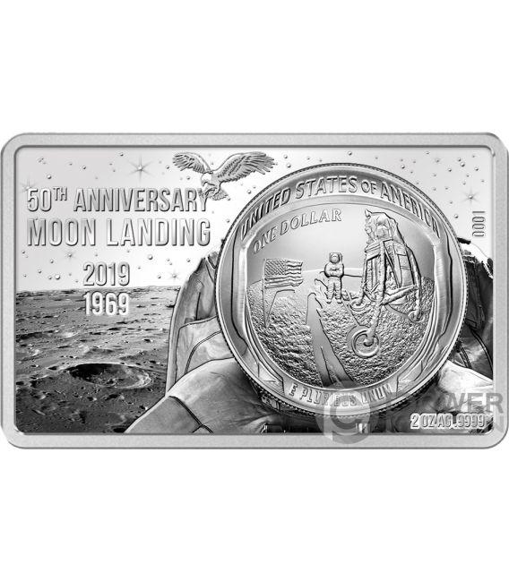 MOON LANDING 50th Anniversary 2 Oz Silver Coin Set 1$ US Mint 2019
