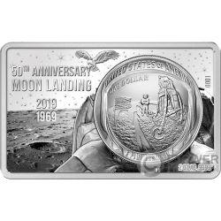 MOON LANDING 50 Anniversario 2 Oz Moneta Argento Set 1$ US Mint 2019