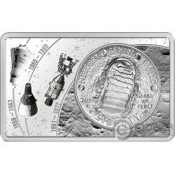 MOON LANDING 50 Aniversario 2 Oz Moneda Plata Set 1$ US Mint 2019