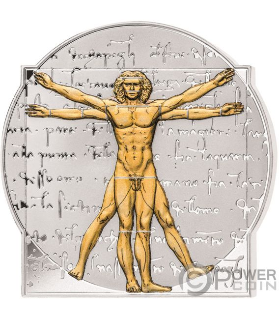 LEONARDO DA VINCI 500th Годовщина 5 Oz Монета Серебро 10$ Соломоновы Острова 2019