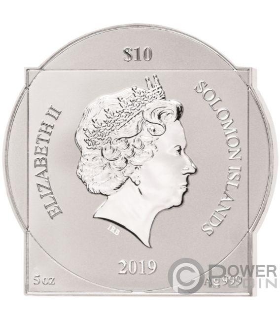 LEONARDO DA VINCI 500th Anniversary 5 Oz Silver Coin 10$ Solomon Islands 2019