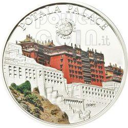 POTALA PALACE Lhasa World Of Wonders 5$ Silver Coin Palau 2011