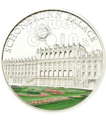 CASTELLO DI SCHONBRUNN Vienna World Of Wonders Moneta Argento 5$ Palau 2011